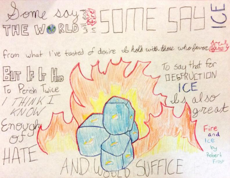 robert frost fire and ice criticism