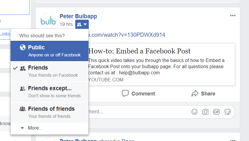 How to Embed a Facebook Post | bulb
