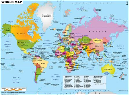 World Map Flipped.World Map Lecture Educator Version Bulb